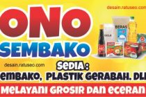 banner toko sembako cdr vector gratis download