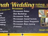 download background banner wedding organizer cdr psd