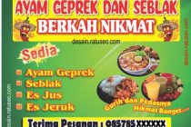 download banner ayam greprek cdr format coreldraw