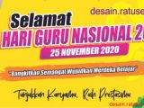 download banner hari guru cdr format corel
